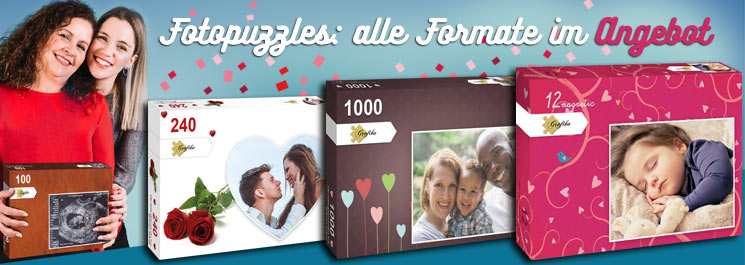 Photopuzzles: alle Formate im Angebot